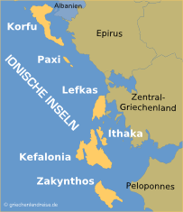 Griechenland Karte Inseln Deutsch.Individualurlaub Auf Den Ionischen Inseln Griechenlandreise De