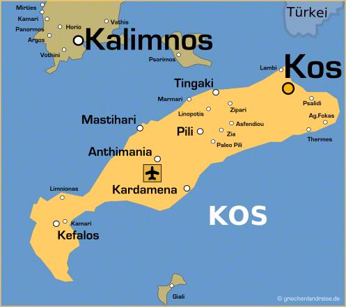 Landkarte von Kos
