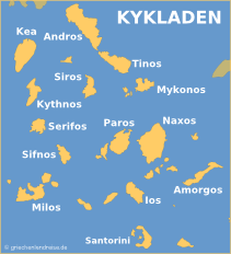 Kykladen Karte.Kykladen Griechenlandreise De