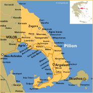 pilion karte griechenland Individualurlaub auf dem Pilion