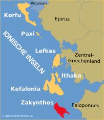 griechenland zakynthos karte Zakynthos   Griechenlandreise.de