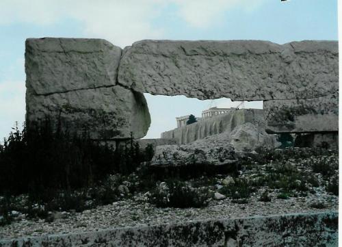 Blick auf die Akropolis vom Olympeion aus