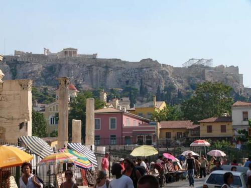 Athen - Blick zur Akropolis