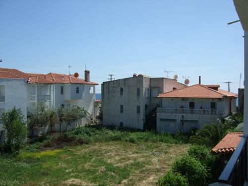 Blick in Richtung Meer (links ist die Villa Christina zu sehen).
