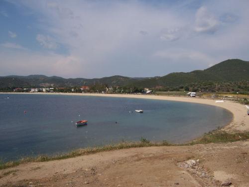 Der östliche Rand des Strandes von Toroni.