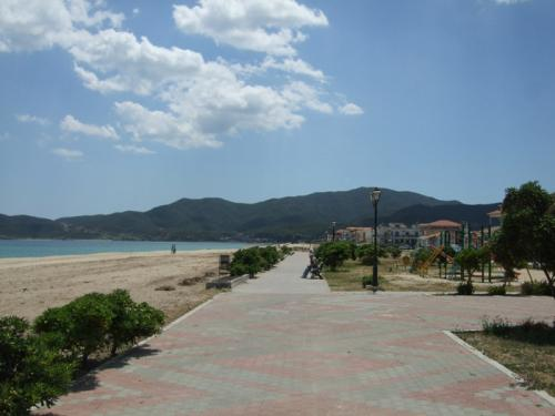 Die Strandpromenade.