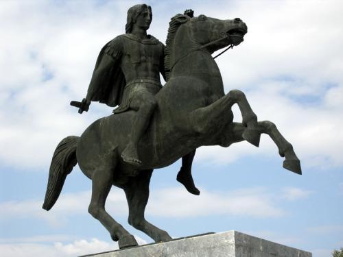Das Reiterstandbild von Alexander dem Großen (Alexandros Megalos).