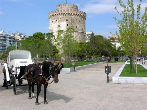 Das Wahrzeichen der Stadt - Der weiße Turm von Thessaloniki.