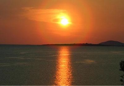 Sonnenuntergang in Toroni