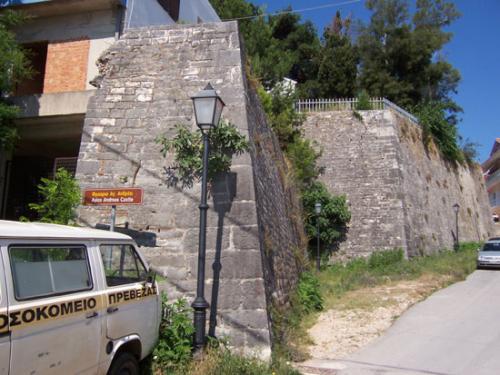 Die Grundmauern der Agios Andreas Burg in Preveza