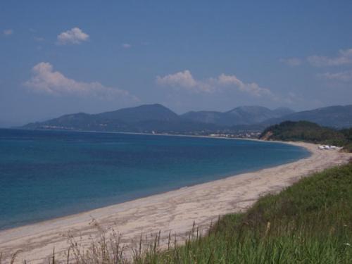 Der berühmte Strand von Kanali auf dem Epirus