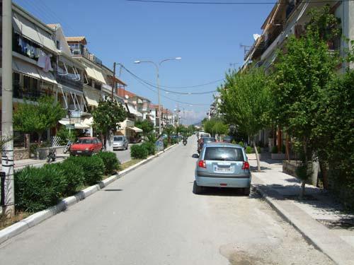 Eine der Hauptstraßen der Stadt