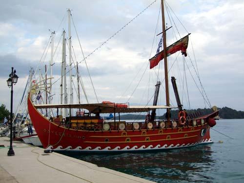 Spaßboot im Hafen