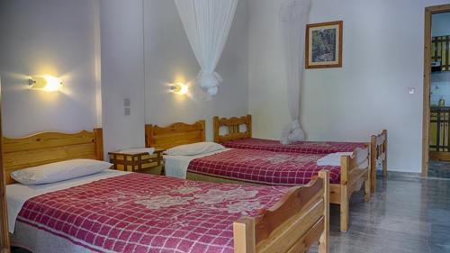 Die drei Betten des zweiten Schlafzimmers des Apartments II -