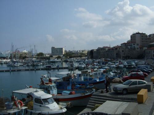 Der Bootshafen von Heraklion.