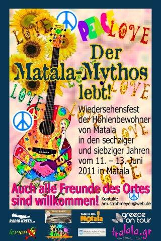 Flyer für das Hippie-Festival