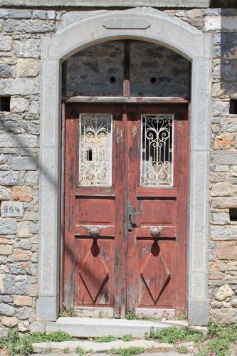 Eine alte Tür im oberen Milatos.
