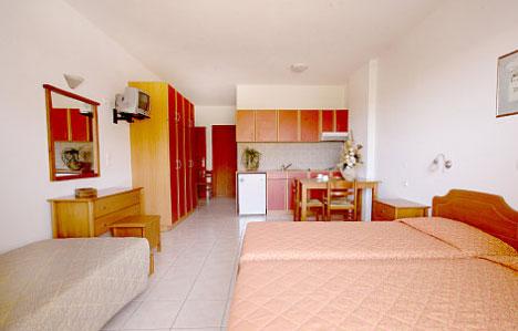 Eines der 20 Studios des Aparthotel Angelika in Milatos