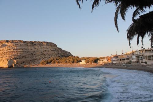 Sonnenuntergang am Strand von Matala
