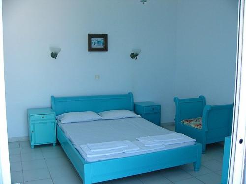 Schlafzimmer eines Apartments.