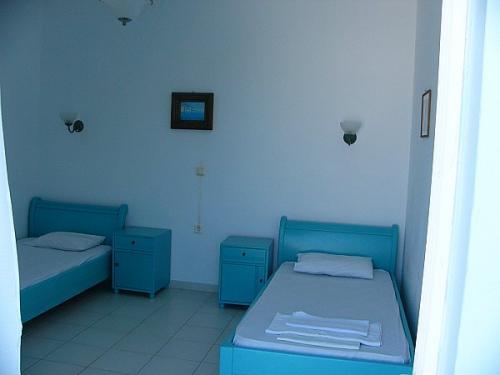 Schlafzimmer eines 3-Zimmer-Apartments.