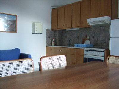 Die Küche eines Apartments.