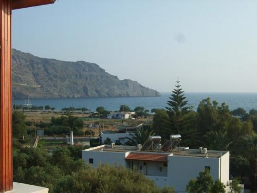 Blick in Richtung Strand, das Zentrum von Plakias liegt etwas weiter rechts.