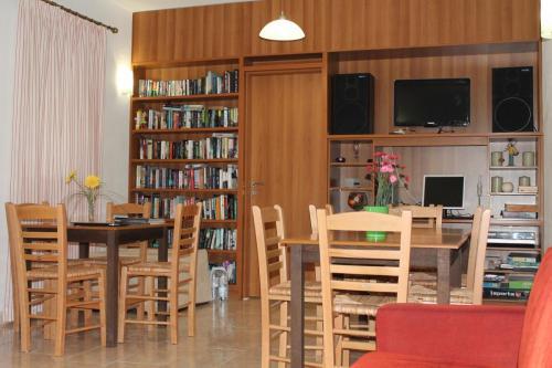 Lobby und Bibliothek