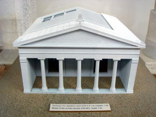 Modell des Demetra-Tempels