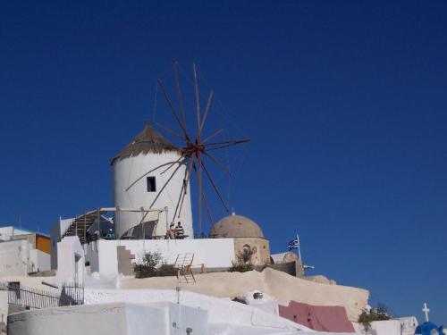 Windmühle auf Santorini