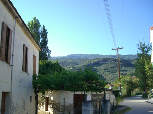 Alle vom Meer wegführenden Wege im westlichen Teil dieses Pilion-Ortes führen durch landwirtschaftlich genutztes Gebiet mit ganzjährig sehr hohem Grundwasserspiegel.