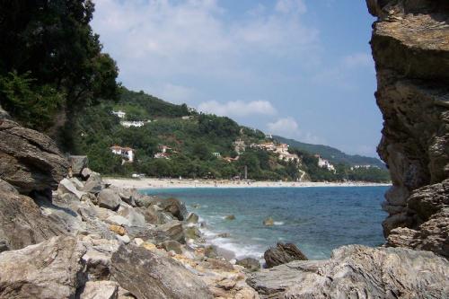 Blick zurück auf den Strand Papa Nero.