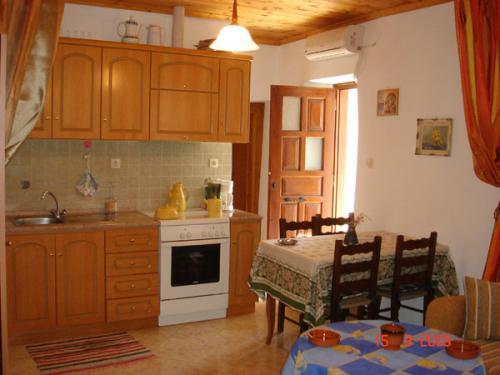 Die Küche im Ferienhaus