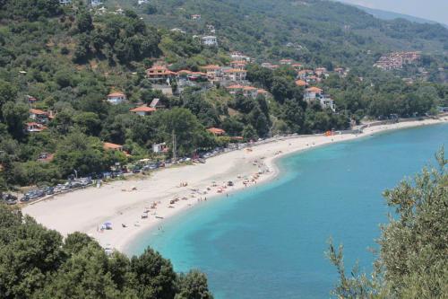 Blick auf die Bucht von Papa Nero von der Zufahrt aus