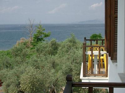 Ausblick vom Hotel auf Gatzea.