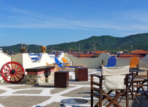 Vom Dach der Villa Anesa schaut man über das ganze Dorf.